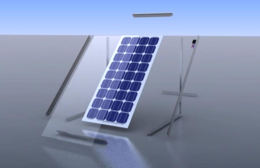 《太阳能结构拆解动画》